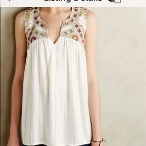 Anthropologie OneSeptember Embroidered Top